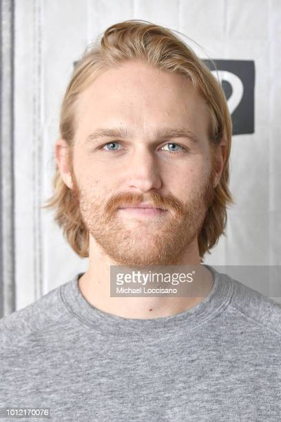 Actor Wyatt Russell visits Build to discuss the TV series ÒLodge 49Ó at Build Studio on August 6, 2018 in New York City.