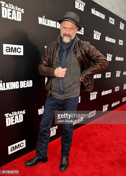 Actor Xander Berkeley attends AMC presents 'Talking Dead Live' for the premiere of 'The Walking Dead' at Hollywood Forever on October 23 2016 in...