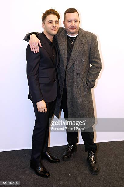 Actor Xavier Dolan and Stylist Kim Jones pose Backstage after the Louis Vuitton Menswear Fall/Winter 20172018 show as part of Paris Fashion Week Held...