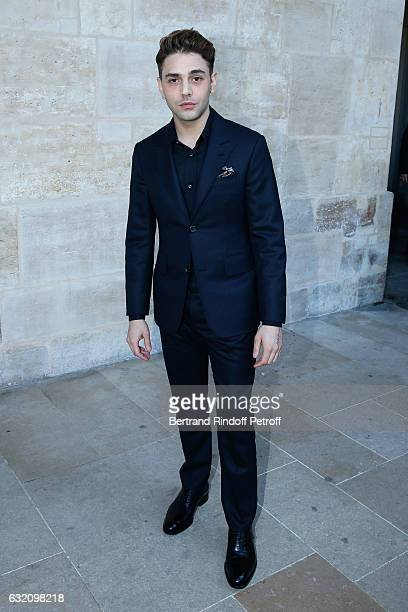 Actor Xavier Dolan attends the Louis Vuitton Menswear Fall/Winter 20172018 show as part of Paris Fashion Week Held at Palais Royal on January 19 2017...