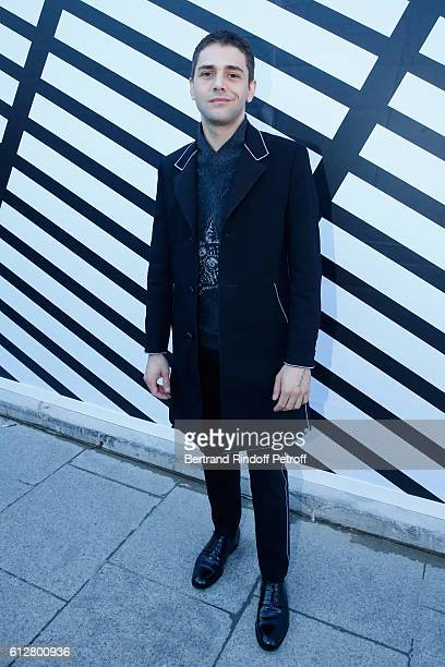 Actor Xavier Dolan attends the Louis Vuitton show as part of the Paris Fashion Week Womenswear Spring/Summer 2017 on October 5 2016 in Paris France
