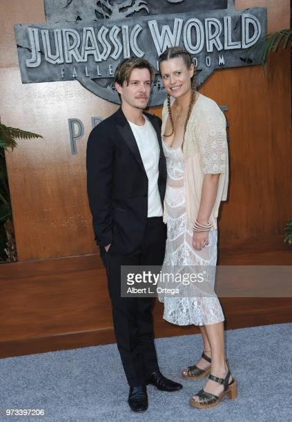 Actor Xavier Samuel and actress Marianna Palka arrivesfor the Premiere Of Universal Pictures And Amblin Entertainment's 'Jurassic World Fallen...