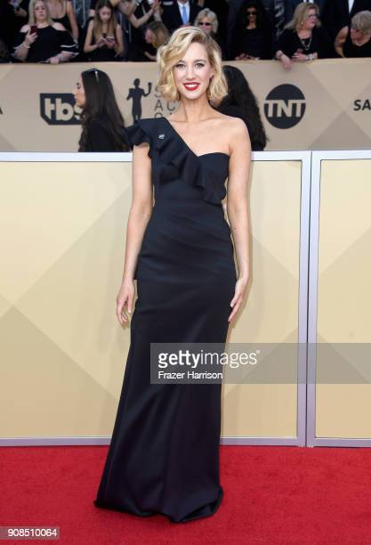 Actor Yael Grobglas attends the 24th Annual Screen ActorsGuild Awards at The Shrine Auditorium on January 21 2018 in Los Angeles California