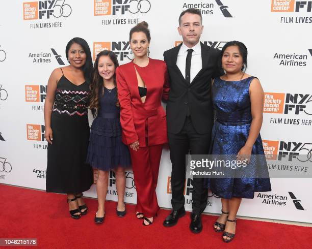 Actor Yalitza Aparicio Actor Daniela Demesa Actor Marina De Tavira Actor Fernando Gradiaga and Actor Nancy Garcia attend the premiere of ROMA during...
