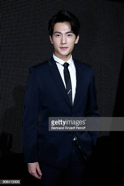 Actor Yang Yang attends the Dior Homme Menswear Fall/Winter 20162017 show as part of Paris Fashion Week on January 23 2016 in Paris France