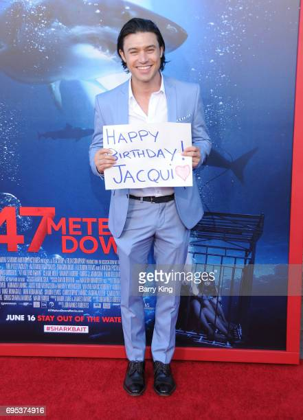 Actor Yani Gellman attends the Premiere of Dinemsion Films' '47 Meters Down' at Regency Village Theatre on June 12 2017 in Westwood California