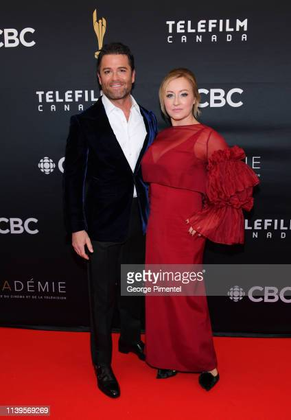 Actor Yannick Bisson and Shantelle Bisson attend the 2019 Canadian Screen Awards Broadcast Gala at Sony Centre for the Performing Arts on March 31...