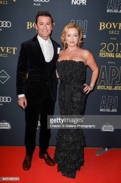 Actor Yannick Bisson and Shantelle Bisson attend the Artists For Peace And Justice Festival Gala 2017 Presented By Bovet 1822 at AGO on September 10...