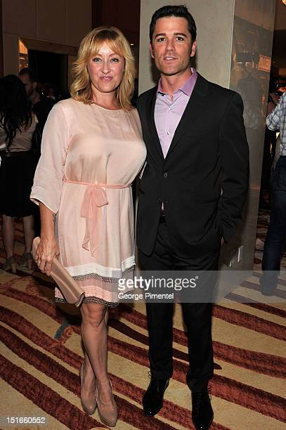 Actor Yannick Bisson and wife Chantal Craig attend Rising Stars Walk The Red Carpet Hello Hollywood Party during the 2012 Toronto International Film...