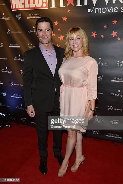 Actor Yannick Bisson and wife Chantal Craig attends Rising Stars Walk The Red Carpet Hello Hollywood Party during the 2012 Toronto International Film...