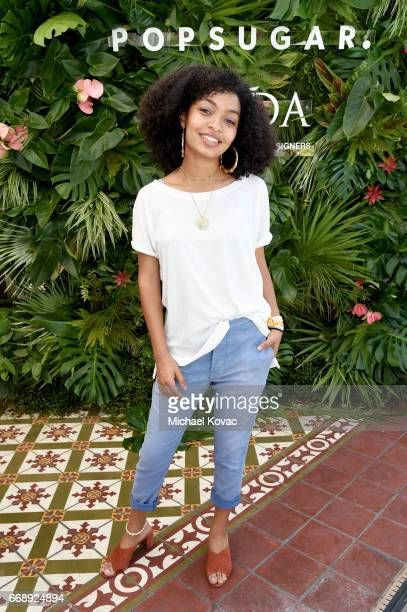 Actor Yara Shahidi attends POPSUGAR and The Council of Fashion Designers of America's Brunch with Designers Emily Current and Meritt Elliott of THE...