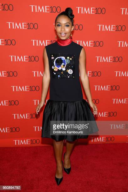 Actor Yara Shahidi attends the 2018 Time 100 Gala at Jazz at Lincoln Center on April 24 2018 in New York City
