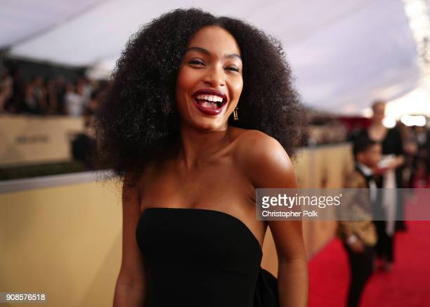 Actor Yara Shahidi attends the 24th Annual Screen Actors Guild Awards at The Shrine Auditorium on January 21, 2018 in Los Angeles, California....