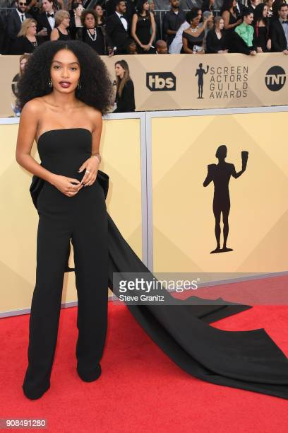 Actor Yara Shahidi attends the 24th Annual Screen Actors Guild Awards at The Shrine Auditorium on January 21 2018 in Los Angeles California