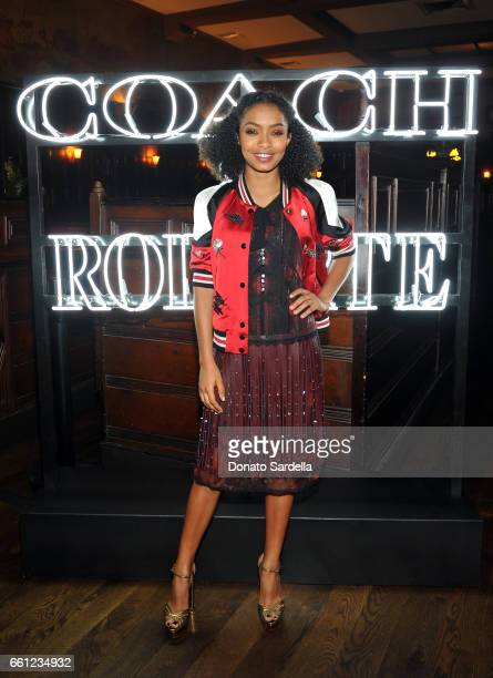 Actor Yara Shahidi attends the Coach Rodarte celebration for their Spring 2017 Collaboration at Musso Frank on March 30 2017 in Hollywood California