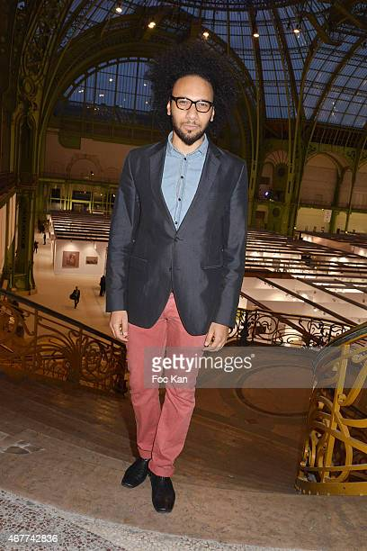 Actor Yassine Azzouz attends the 'Diamond Night by Divinescence Vendome' Harumi Klossowska Jewellery Exhibition Preview As Part Of Art Paris Art Fair...