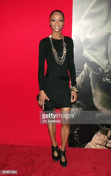 Actor Yaya DaCosta attends the premiere of Miracle at St Anna at Ziegfeld Theatre on September 22 2008 in New York City