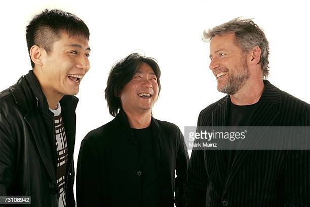 Actor Ye Liu Director Chen ShiZheng and actor Aidan Quinn from the film 'Dark Matter' pose for a portrait during the 2007 Sundance Film Festival on...
