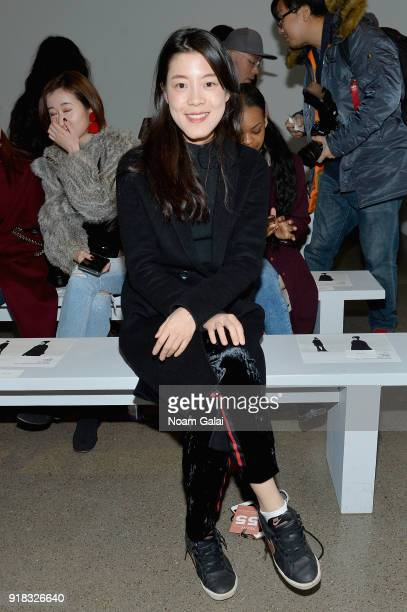 Actor Yi Liu attends the All Comes From Nothing x COOME FW18 show at Gallery II at Spring Studios on February 14 2018 in New York City