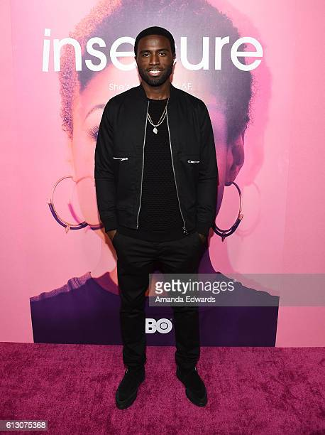 Actor Y'Lan Noel arrives at the premiere of HBO's Insecure at the Nate Holden Performing Arts Center on October 6 2016 in Los Angeles California