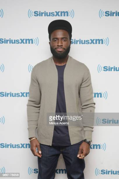 Actor Y'lan Noel visits SiriusXM Studios on June 28 2018 in New York City