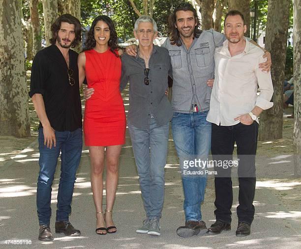 Actor Yon Gonzalez, actress Esther Mendez, director Antonio Hernandez, actor Aitor Luna and actor Ben Temple attend 'Matar el tiempo' presentation at...