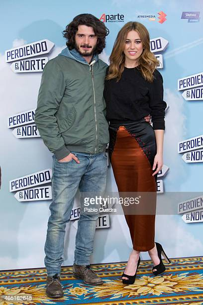 Actor Yon Gonzalez and actress Blanca Suarez pose during a photocall to present 'Perdiendo el Norte' at Intercontinental Hotel on March 3 2015 in...
