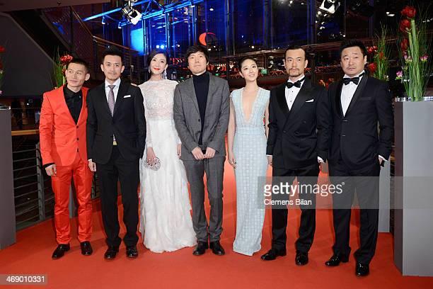 Actor Yu Ailei actor Wang Xuebing actress Gwei Lun Mei director Diao Yinan actress Ni Jingyang actor Liao Fan and actor Wang Jingchun attend the...