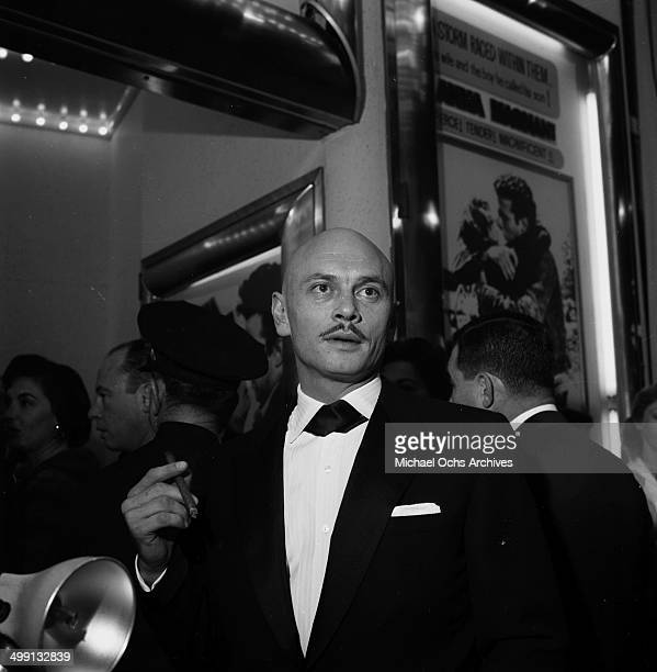Actor Yul Brynner attends a party in Los Angeles California