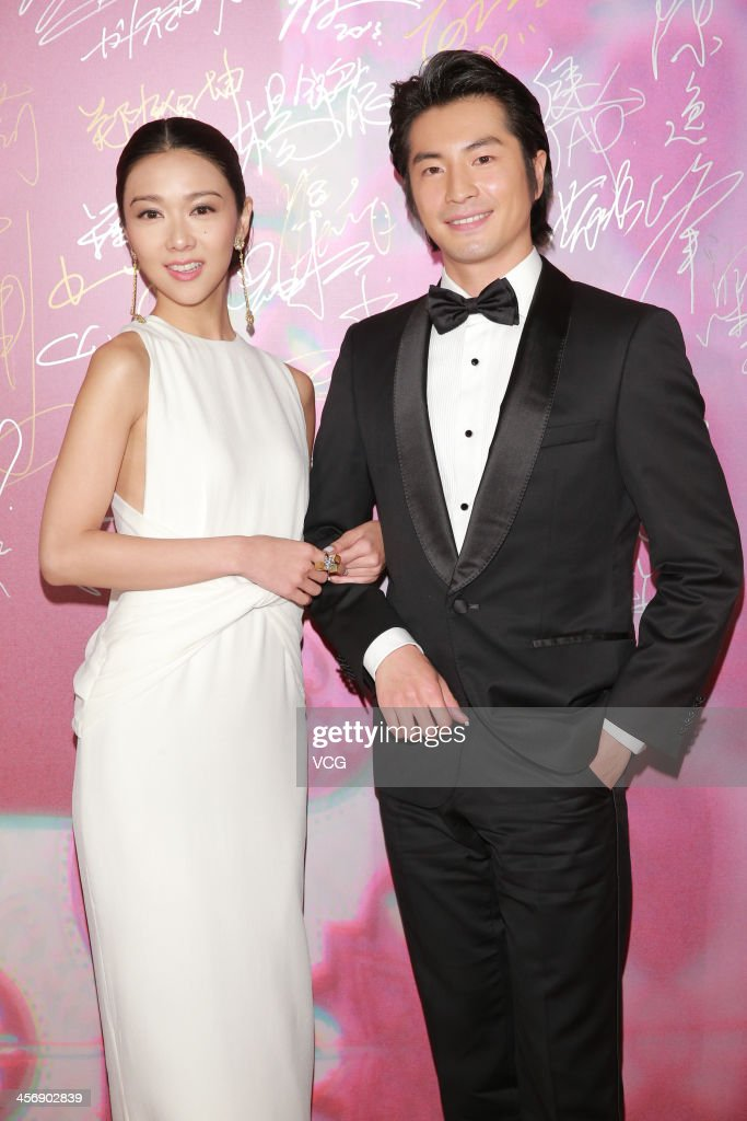 Actor Yusuke Fukuchi and actress Fiona Sit arrive at The 56th Asia-Pacific Film Festival Awards Presentation Ceremony Red Carpet at The Venetian Macao on December 15, 2013 in Macau, Macau.