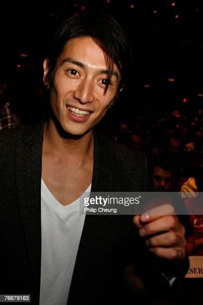 Actor Yusuke Iseya arrives at the Sukiyaki Western Django North American Premiere screening during the Toronto International Film Festival 2007 held...