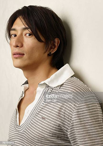 ACCESS*** Actor Yusuke Iseya from the film Sukiyaki Western Django poses for a portrait in the Chanel Celebrity Suite at the Four Season hotel during...