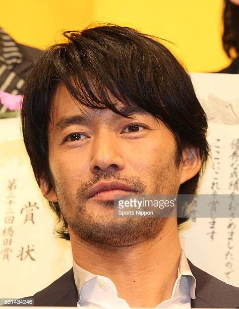 Actor Yutaka Takenouchi attends the 22nd Hashida Award Ceremony on May 12 2014 in Tokyo Japan
