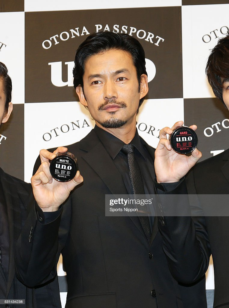 Actor Yutaka Takenouchi attends the Shiseido Uno press conference on March 9, 2016 in Tokyo, Japan.
