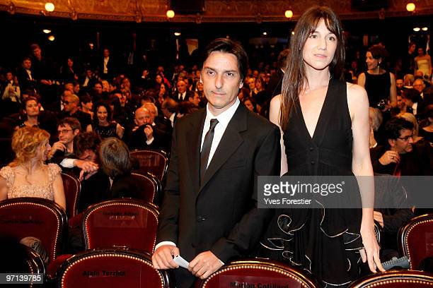 Actor Yvan Attal and wife Actress Charlotte Gainsbourg attends the 35th Cesar Film Awards at the Theatre du Chatelet on February 27 2010 in Paris...
