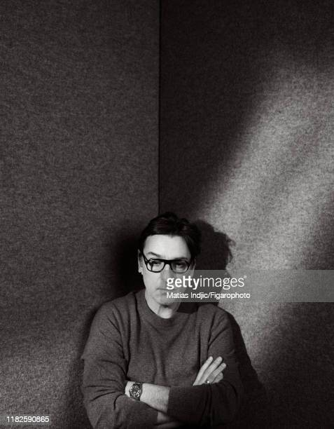 Actor Yvan Attal is photographed for Madame Figaro on January 20 2018 in Paris France Sweater by Anthony Vaccarello for Saint Laurent PUBLISHED IMAGE...