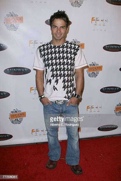 Actor Yves Bright arrives at the Runway Magazine launch party held at Area nightclub on October 5 2007 in West Hollywood California