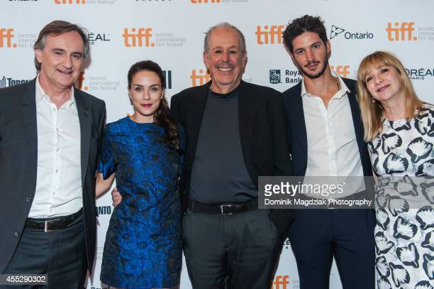 Actor Yves Jacques actress Melanie Merkosky director Denys Arcand actor Eric Bruneau and producer Denise Robert attend the An Eye For Beauty premiere...