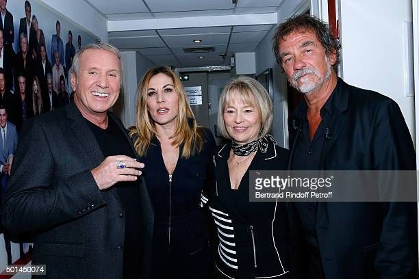 Actor Yves Renier Actress Mathilde Seigner Martine Monteil who presents her book 'Flic tout simplement' and Main Guest of the Show actor Olivier...