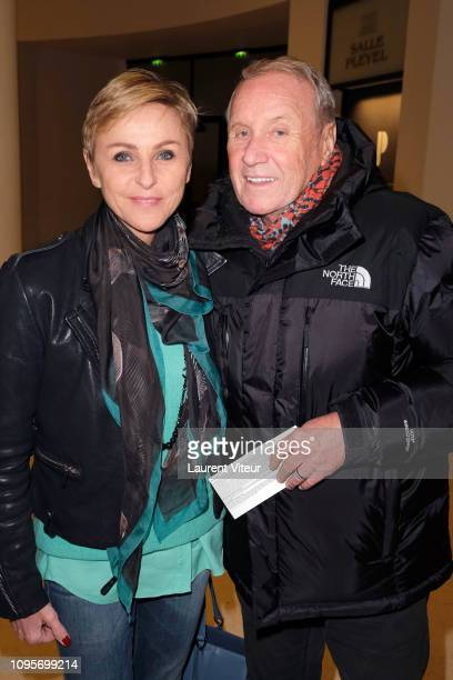 "Actor Yves Renier and his wife Karine Renier attend ""N°5 de Chollet"" at Salle Pleyel on January 17, 2019 in Paris, France."