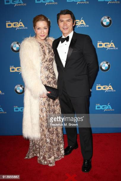 Actor Yvonne Boismier Phillips and actor/director Lou Diamond Phillips attend the 70th Annual Directors Guild Of America Awards at The Beverly Hilton...