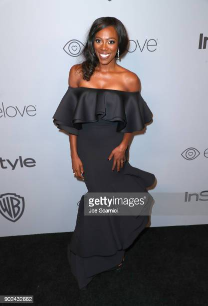 Actor Yvonne Orji attends the 2018 InStyle and Warner Bros 75th Annual Golden Globe Awards PostParty at The Beverly Hilton Hotel on January 7 2018 in...