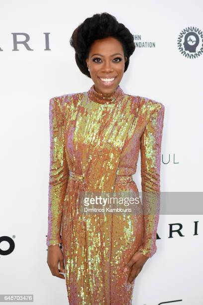 Actor Yvonne Orji attends the 25th Annual Elton John AIDS Foundation's Academy Awards Viewing Party at The City of West Hollywood Park on February 26...