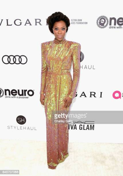 Actor Yvonne Orji attends the 25th Annual Elton John AIDS Foundation's Academy Awards Viewing Party with cocktails by Clase Azul Tequila and Chopin...