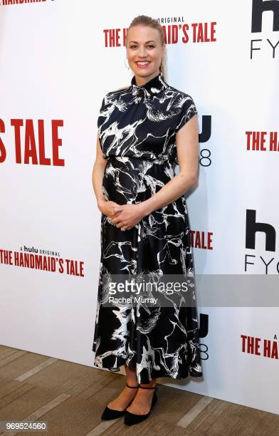 Actor Yvonne Strahovski arrives at Hulu's The Handmaid's Tale FYC at Samuel Goldwyn Theater on June 7 2018 in Beverly Hills California