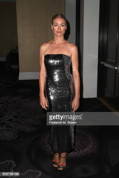 Actor Yvonne Strahovski at the 33rd Annual Television Critics Association Awards during the 2017 Summer TCA Tour at The Beverly Hilton Hotel on...