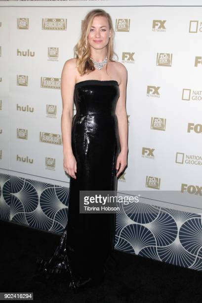 Actor Yvonne Strahovski attends FOX FX and Hulu 2018 Golden Globe Awards After Party at The Beverly Hilton Hotel on January 7 2018 in Beverly Hills...