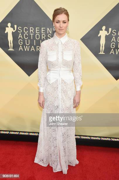 Actor Yvonne Strahovski attends the 24th Annual Screen Actors Guild Awards at The Shrine Auditorium on January 21 2018 in Los Angeles California