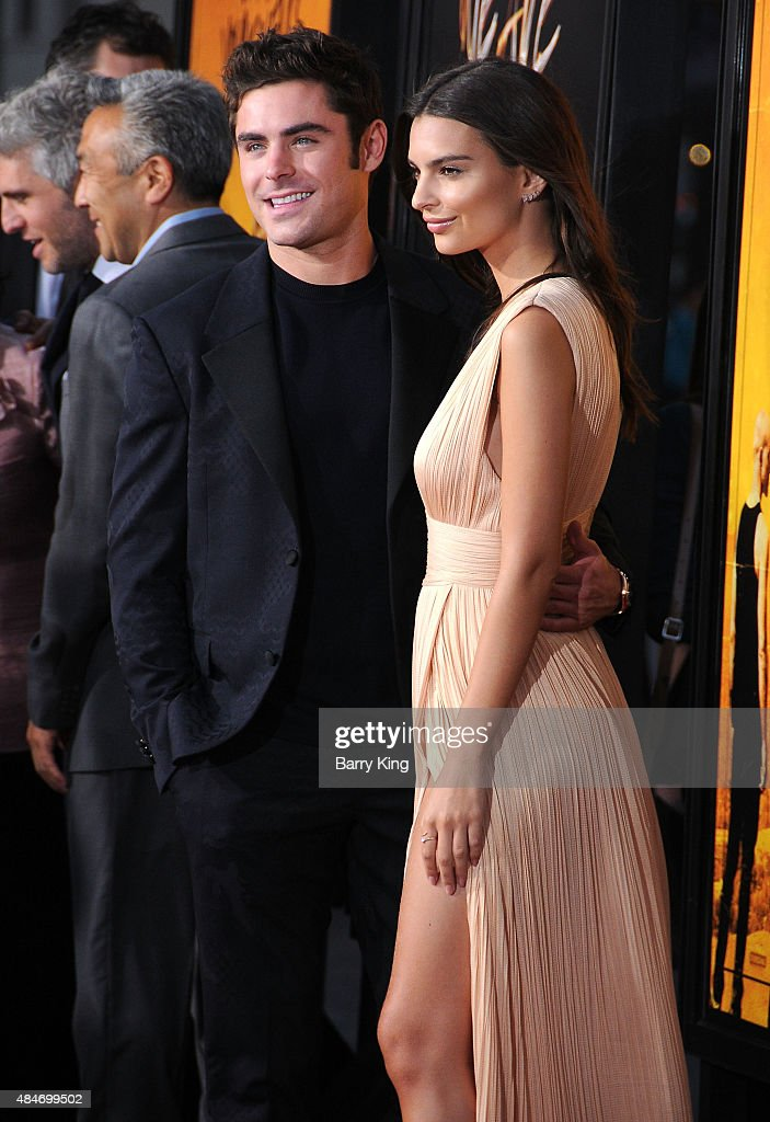Actor Zac Efron and actress Emily Ratajkowski attend the Premiere of Warner Brothers Pictures' 'We Are Your Friends' at TCL Chinese Theatre on August 20, 2015 in Hollywood, California.