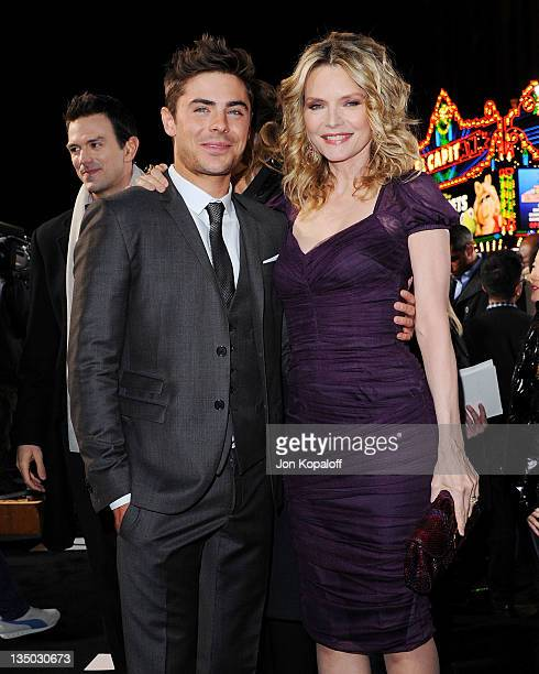 """Actor Zac Efron and actress Michelle Pfeiffer arrive at the Los Angeles Premiere """"New Year's Eve"""" at Grauman's Chinese Theatre on December 5, 2011 in..."""